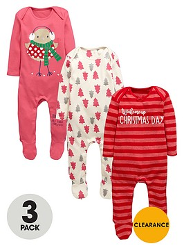 ladybird-baby-girls-christmas-sleepsuitsnbsp3-pack
