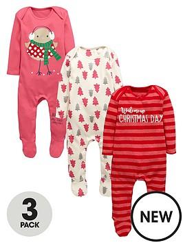 ladybird-baby-girls-christmas-sleepsuitsnbsp3-pack