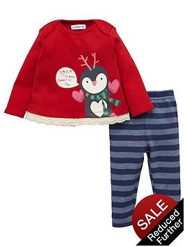ladybird-baby-girls-christmas-penguin-top-and-leggings-set