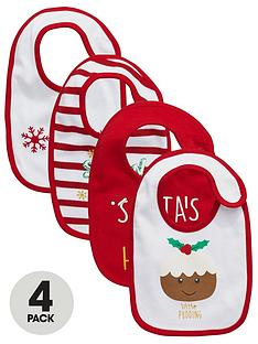 ladybird-baby-unisex-christmas-bibs-4-pack