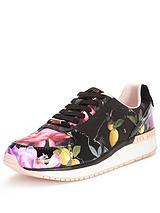 Ted Baker PHRESSYA 3 Dark Floral Trainer