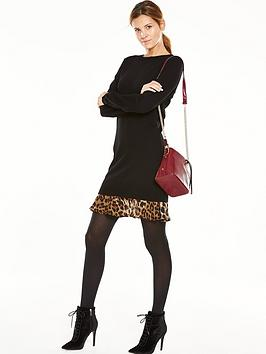 V By Very Animal Print 2In1 Knitted Dress