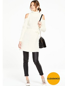 v-by-very-cable-knit-belted-roll-neck-tunic-with-cold-shoulders