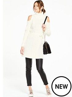 v-by-very-cable-roll-neck-belted-tunic