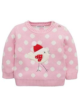 ladybird-baby-girls-robinnbspknitted-jumper