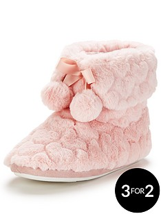 v-by-very-cosmo-heart-print-bootie-with-pom-pomsnbsp