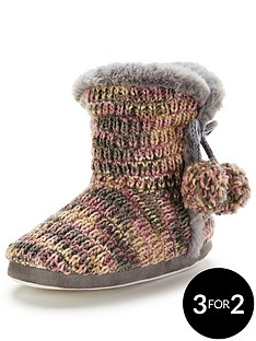 v-by-very-kassienbspknitted-bootie-with-pom-poms