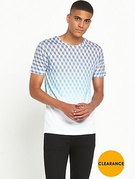 river-island-geometric-print-faded-t-shirt