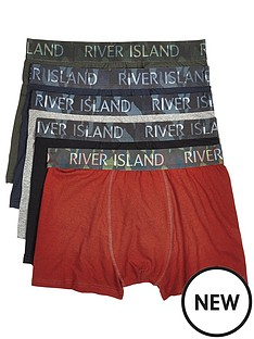 river-island-5pk-camo-waistband-trunks