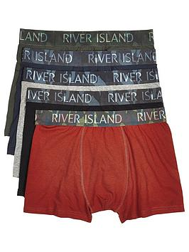 river-island-five-pack-camouflagenbspwaistband-trunks