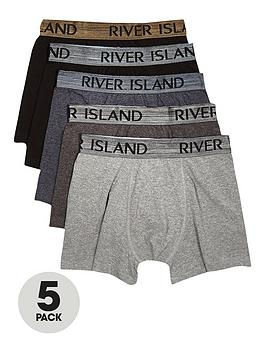 river-island-5-pack-metallic-waistband-trunks