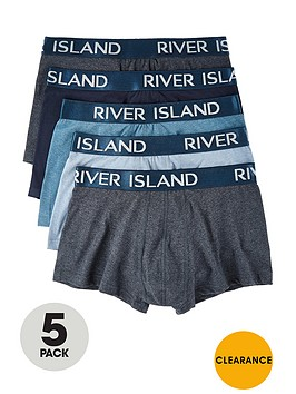 river-island-blue-trunksnbsp5-pack
