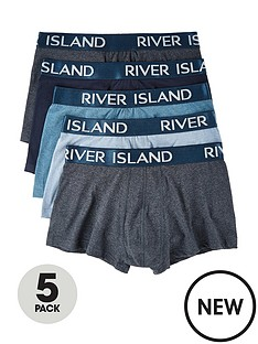 river-island-bluenbsphipsters-5-pack