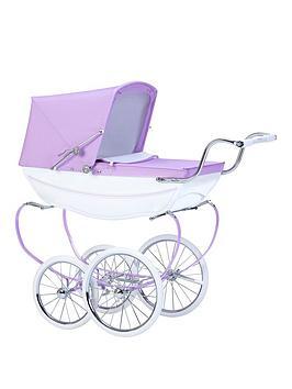 silver-cross-oberon-sparkle-purple-dolls-pram-with-optional-personalisation