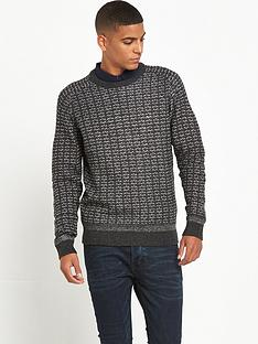 selected-homme-pattern-crew-neck-jumper