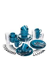 Starter Kitchen Combo Set in Teal Blue – 54 pieces