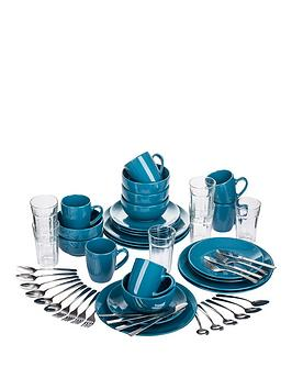 Starter Kitchen Combo Set In Teal Blue &Ndash 54 Pieces