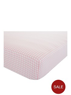 catherine-lansfield-gingham-check-single-fitted-sheet