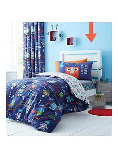 catherine-lansfield-robots-single-duvet-cover-set