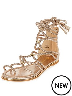 river-island-river-island-plaited-gold-tie-up-sandal