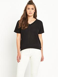 river-island-short-sleeve-cross-back-knitted-jumper-top