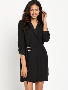 river-island-long-sleeve-belted-tux-dress