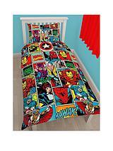 Comic Strike Rotary Duvet Cover Set - Multi