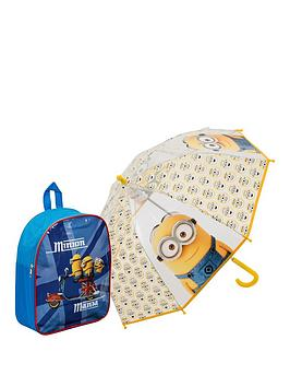 minions-minions-mania-junior-backpack-and-umbrella-set