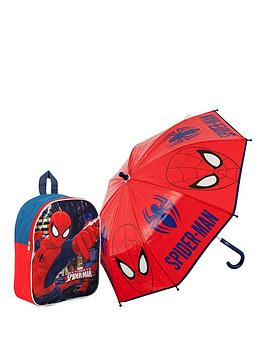 spiderman-backpack-and-umbrella-set