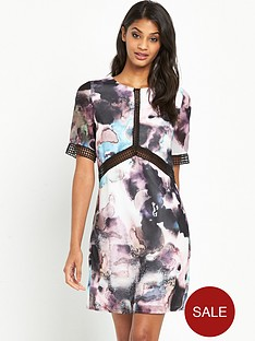 little-mistress-printed-short-sleeve-shift-dress