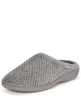 totes-isotoner-popcorn-mule-slipper-with-pillowstepnbsptechnology-grey