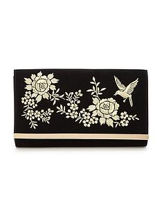 v-by-very-bird-embroidered-envelope-clutch-bag