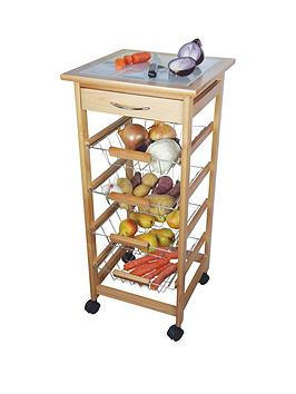 Apollo Kitchen Trolley With 4 Wire Baskets