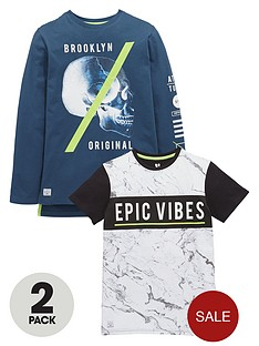 v-by-very-boys-epic-vibes-skull-t-shirts-2-pack
