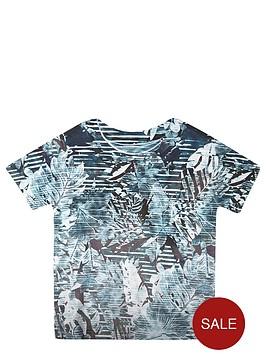 river-island-mini-boys-turquoise-palm-print-t-shirt