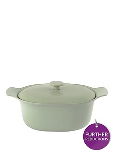 berghoff-ron-28cm-cast-iron-casserole-dish-with-lid-in-sage