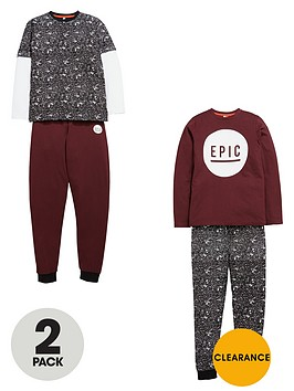 v-by-very-boys-epic-paint-print-pyjamas-2-pack