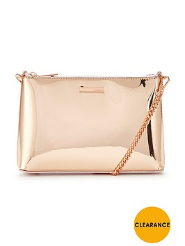ted-baker-metallic-shoulder-chain-clutch-rose-gold