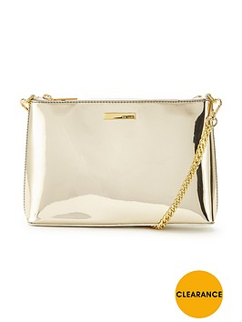 ted-baker-metallic-shoulder-chain-clutch-gold