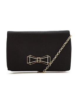 ted-baker-signature-bow-detail-clutch-black