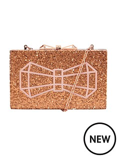 ted-baker-glitter-hard-box-bow-clutch