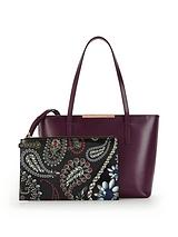 Ted Baker Small Crosshatch Shopper with Inner Purse