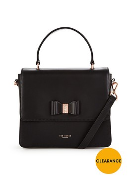 ted-baker-bow-detail-top-handle-tote-black