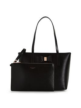 ted-baker-small-bow-detail-shopper-with-inner-purse-pouch-black