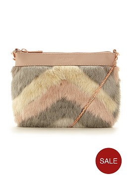 ted-baker-mixed-faux-fur-clutch-taupe