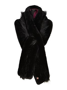 ted-baker-ted-baker-faux-fur-collar-black