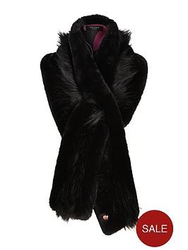 ted-baker-ted-baker-faux-fur-collar-black