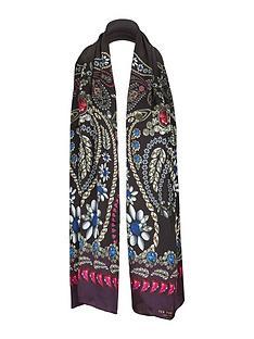 ted-baker-skinny-jewel-printed-neck-scarf-black