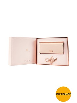 ted-baker-purse-amp-keyring-gift-set-rose-gold