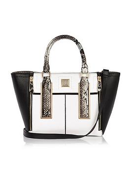 river-island-immi-winged-tote-blackwhite